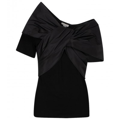 Alexander McQueen Women's Clothing Bow-embellished cotton T-shirt on style P00524718