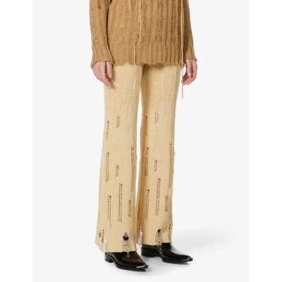 ANDERSSON BELL Rounge high-rise cotton-blend knitted trousers 36N1UCRU
