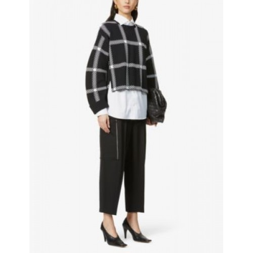 STELLA MCCARTNEY Liv tapered high-rise wool trousers 1KY5ID6P