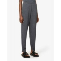 THEORY Women's Empire tapered-leg high-rise wool trousers Y3BTZRK5