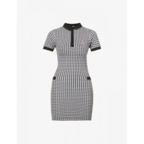 ODOLLS COLLECTION Houndstooth stretch-woven mini dress Trends 2021 XCIPIDYO